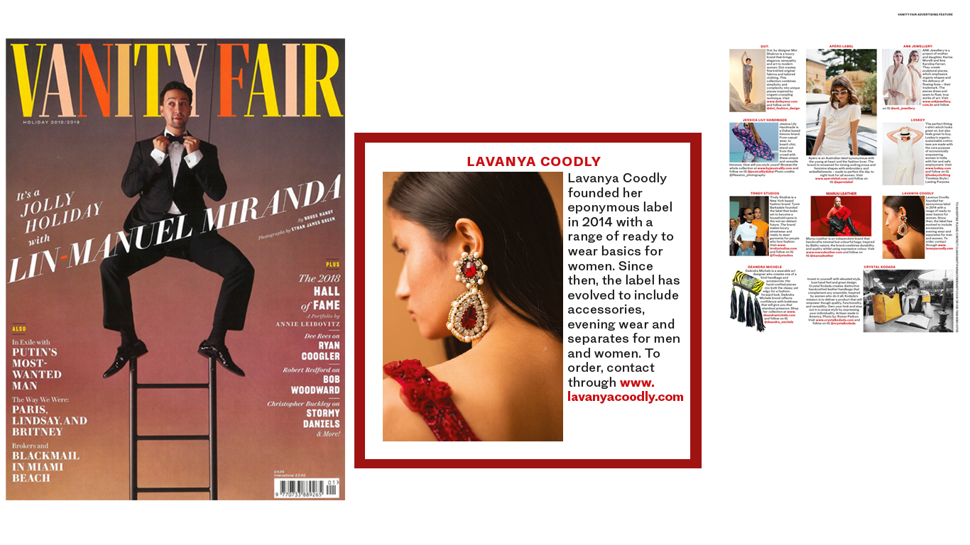A/W 18 Collection on Vanity Fair 2018 Holiday Issue