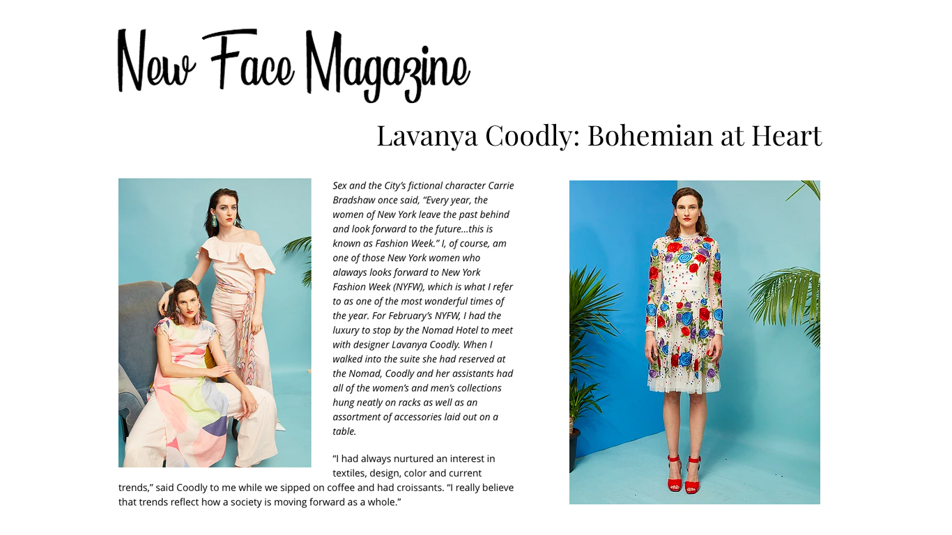 Interview with New Face Magazine