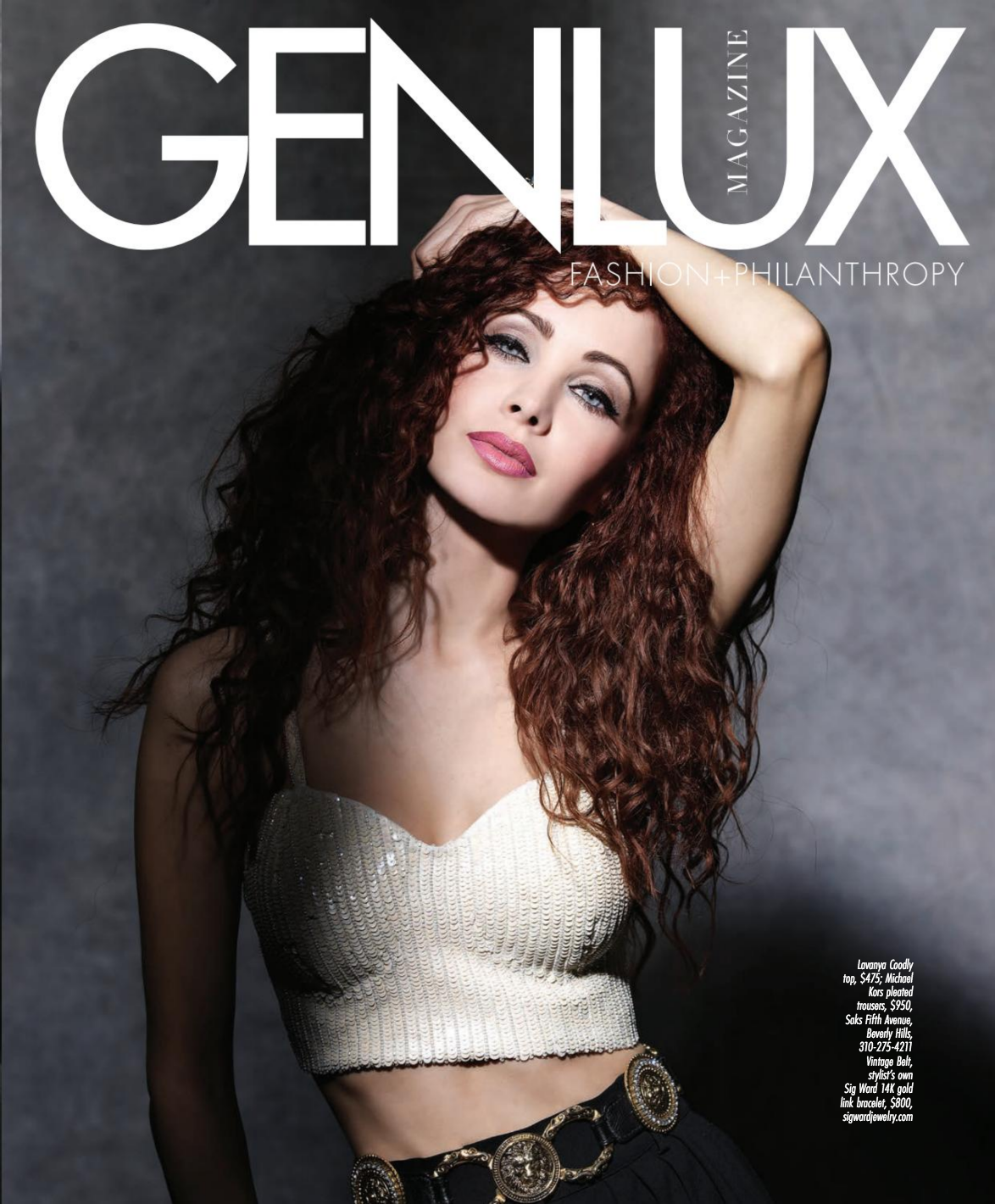 The Vanessa Set on Ksenia Solo for Genlux Magazine Spring/Summer 2020 Issue